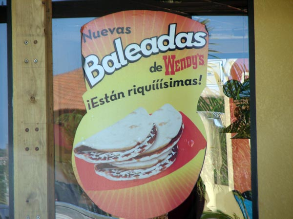 Baleadas at Roatan's Wendy's